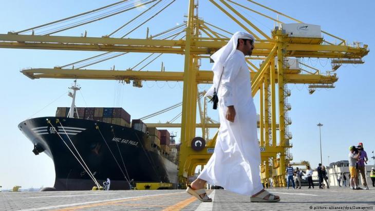 ميناء حمد الجديد في قطر.  Foto: picture-alliance/dpa