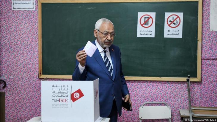 رئيس حركة النهضة التونسية راشد الغنوشي.