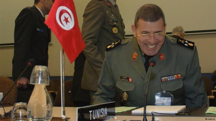 الجنرال رشيد عمار قائد أركان الجيش التونسي.