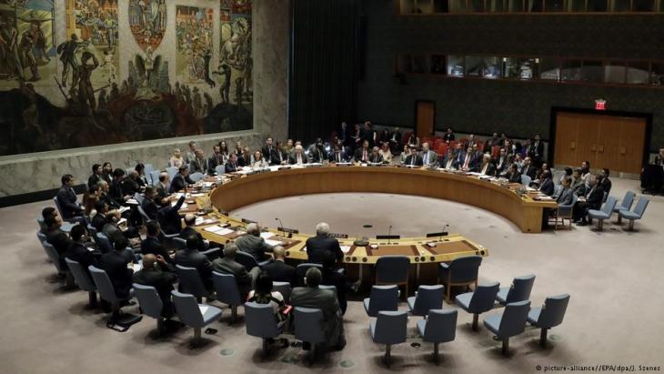 مجلس الأمن الدولي في مقر الأمم المتحدة في نيويورك. Foto: picture-alliance/dpa