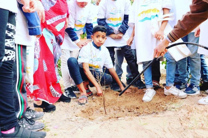 """مبادرة مؤسسة الأطلس الكبير لزراعة الأشجار  في المغرب. Foto: """"High Atlas Foundation"""""""