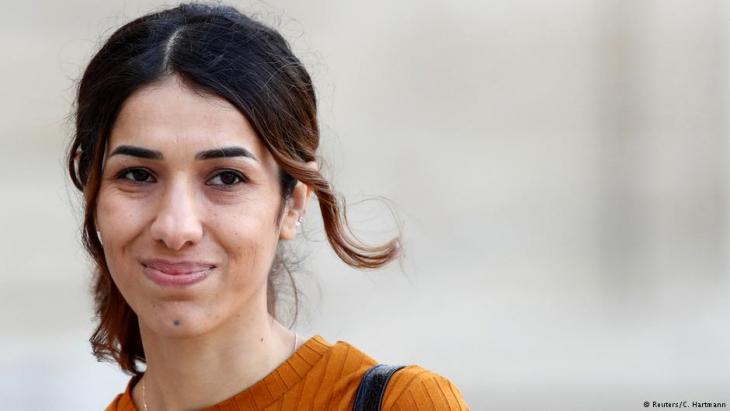 تنتمي نادية مراد إلى أقلية الإيزيديين الدينية في شمال العراق. Reuters/C.Hartmann