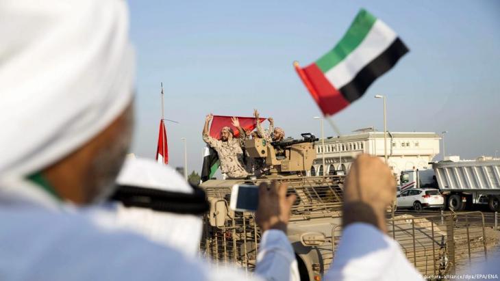 جنود إماراتيون بعد عودتهم من حرب اليمن.