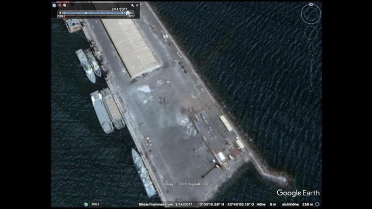 ميناء عصب الإريتري - قاعدة عمليات إماراتية في حرب اليمن.