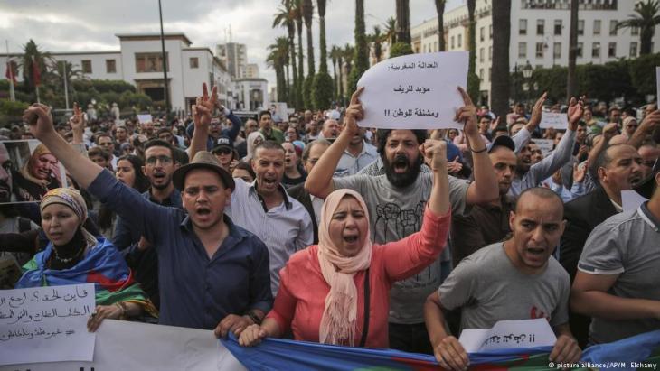 المغرب - احتجاجات على إدانة نشطاء الريف. picture alliance/AP