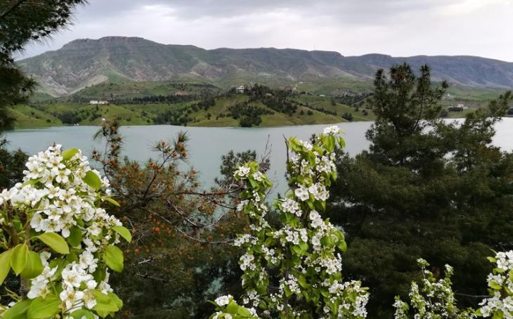 منظر جبلي طبيعي قرب مدينة السليمانية في كردستان العراق.  Foto: Dara Alani