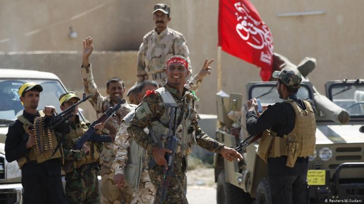 العراق- ساحة صراع منتظرة بين الولايات المتحدة وإيران..في الصورة ميليشيات في العراق