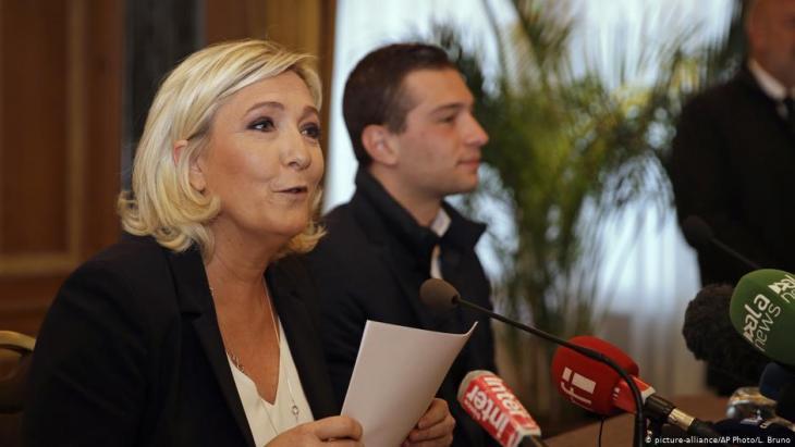 مارين لوبان، رئيسة حزب الجبهة الوطنية الفرنسي