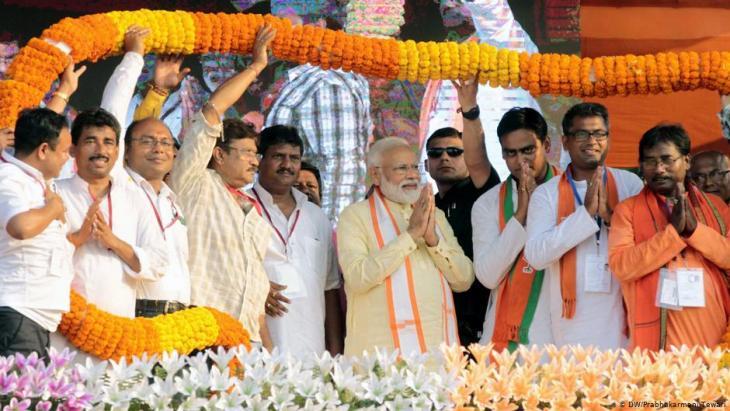 حزب بهاراتيا جاناتا - الهند.  (photo: DW/Prabhakarmani Tewari)