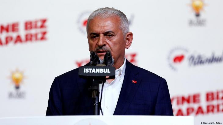 بن علي يلدريم، مرشح الحزب الحاكم أقر بهزيمته وهنأ منافسه أكرم إمام أوغلو. الصورة رويترز