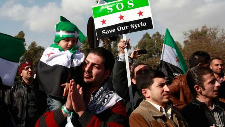 احتجاجات المعارضة السورية 2012. Reuters
