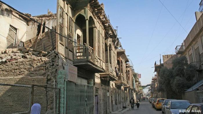 مبانٍ قديمة في الحي اليهودي في بغداد - العراق.  (photo: DW/M- Al-Saidy)
