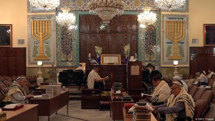 أكبر كنيس يهودي في إيران موجود في حيّ يوسف آباد، لكنه لا يبدو من الخارج ككنيس. Foto: DW