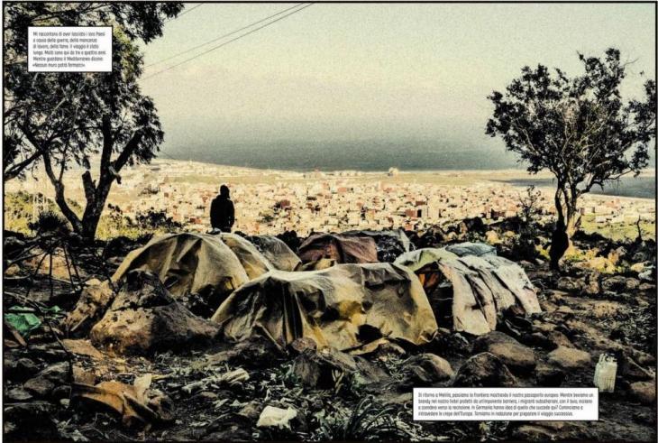 """صفحة من مجلة (الشق) """"الكراك"""" - للصحفيين سبوتورنو وَ أبريل. (published in Spanish by Astiberri Ediciones)"""