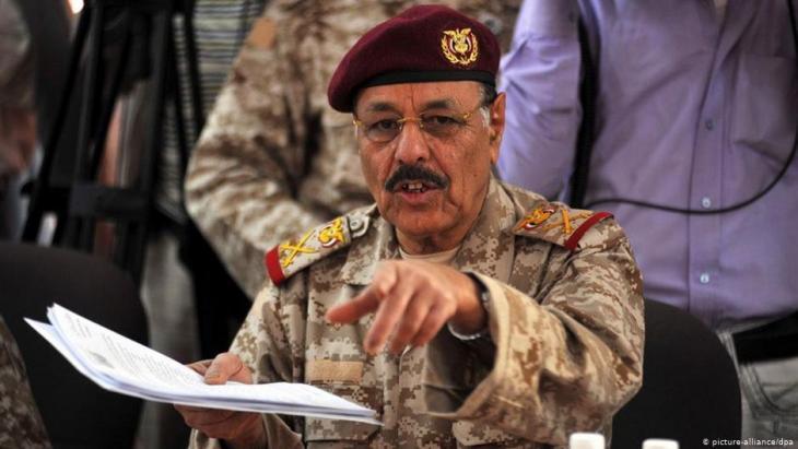 علي محسن الأحمر نائب الرئيس اليمني ورئيس أركان الجيش الوطني