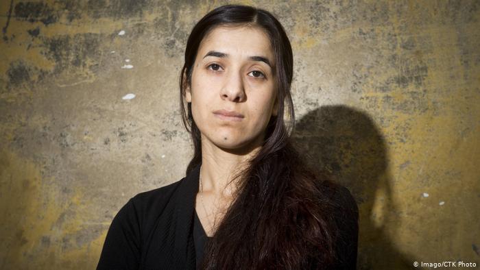 الناشطة الإيزيدية نادية مراد الحائزة على جائزة نوبل للسلام. (photo: Imago/CTK Photo)