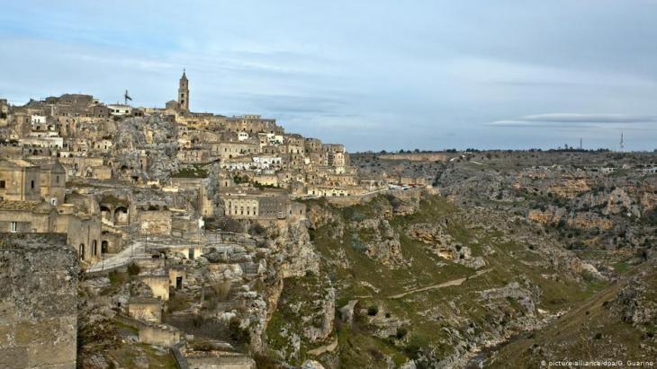 منظر لمدينة ماتيرا الإيطالية الجنوبية.  Foto: picture-alliance/dpa
