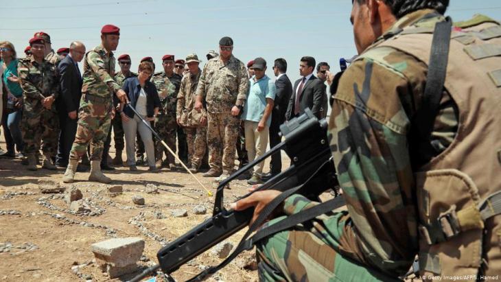 منذ سنوات تقوم القوات الالمانية بتدريب قوات البيشمركة في كردستان العراق على مهام مختلفة.