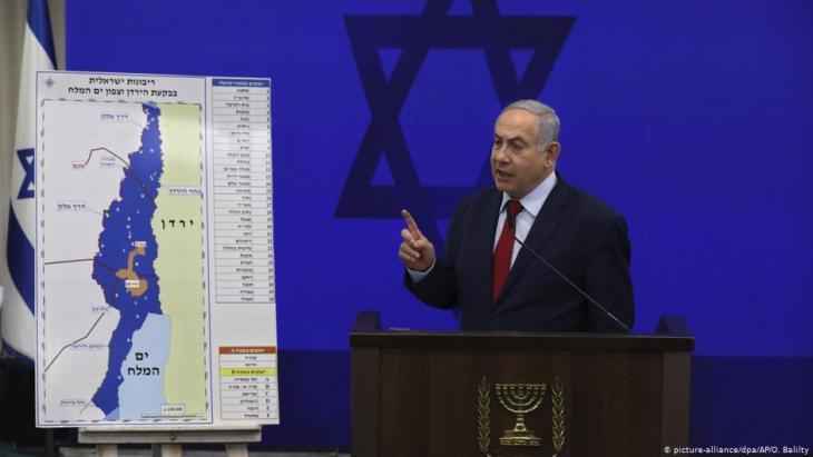 قبل أسبوع واحد من الانتخابات البرلمانية المبكِّرة في إسرائيل، أعلن رئيس الوزراء بنيامين نتنياهو عن أنَّه سيَضُم في حال إعادة انتخابة وادي الأردن في الضفة الغربية المحتلة إلى إسرائيل. Foto: picture-alliance/dpa