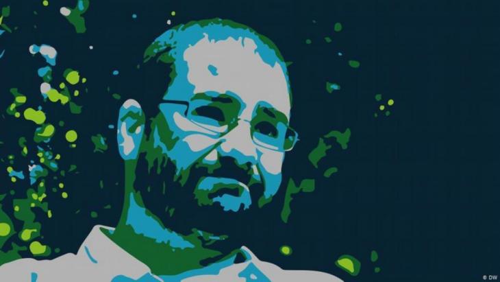 الناشط المصري علاء عبد الفتاح من رموز ثورة عام 2011 التي أسقطت الرئيس الأسبق حسني مبارك.الصورة: دويتشه فيله
