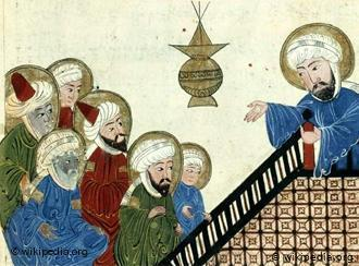 تصور للنبي محمد. رسم عثماني من القرن 17.  Quelle: Wikipedia/Public Domain