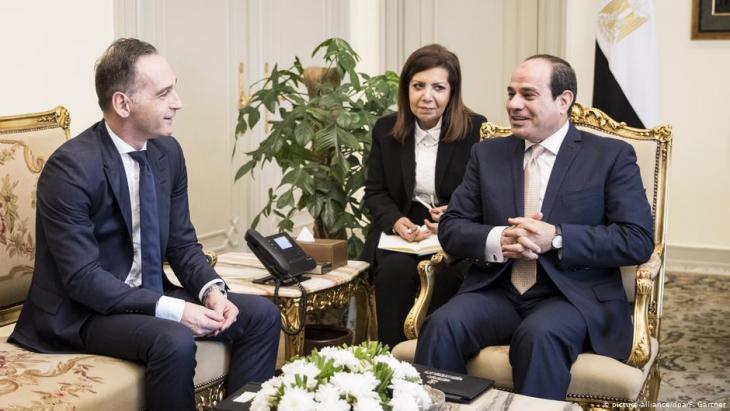 وزير الخارجية الألماني هايكو ماس في القاهرة / مصر أثناء لقاء مع الرئيس المصري عبد الفتاح السيسي.