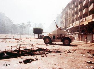 انطلقت الشرارة الأولى للحرب الأهلية اللبنانية في الثالث عشر من أبريل / نيسان 1975. Foto: AP