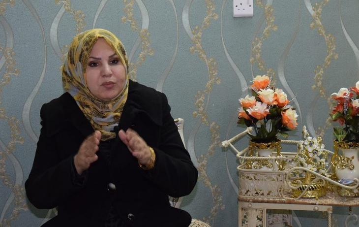 حكيمة الشبلي، عضوة مجلس محافظة الديوانية - العراق. (screenshot; source: Goethe-Institut | Perspectives)