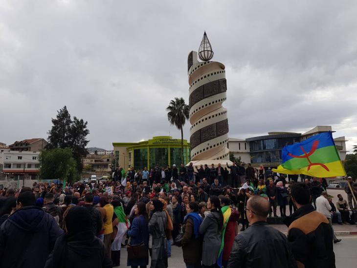 احتجاجات في الجزائر. الصورة: نور الدين بسعدي