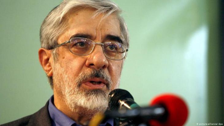 مير حسين موسوي، سياسي إيراني تحت الإقامة الجبرية ومرشح رئاسي سابق. Foto: picture-alliance/dpa