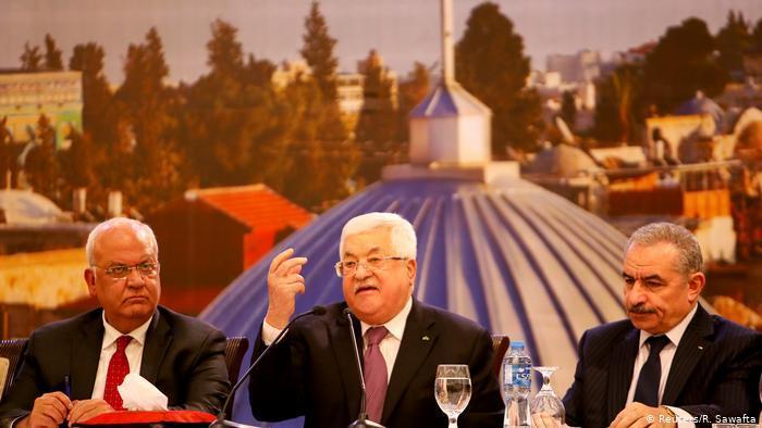 """الرئيس الفلسطيني محمود عباس وصف خطة ترامب السلام في الشرق الأوسط بأنها """"مؤامرة"""" وقال: القدس ليست للبيع. (photo: Reuters/R. Sawafta)"""