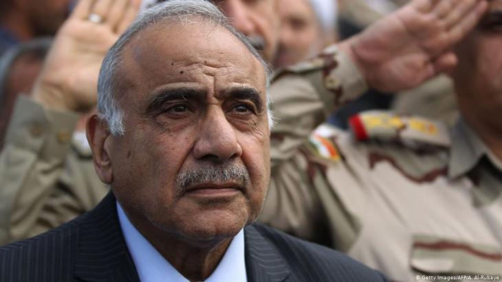 رئيس الوزراء العراقي السابق رئيس الوزراء عادل عبد المهدي.  Foto: AFP/Getty Images