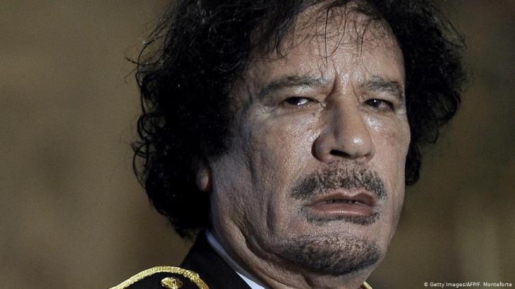 رئيس ليبيا الأسبق معمر القذافي. Foto: Getty Images/AFP