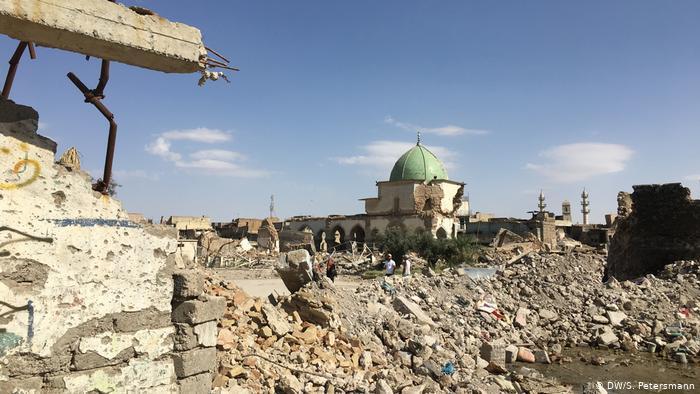 مسجد النوري المدمر في الموصل - العراق. Foto: DW