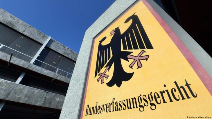 المحكمة الدستورية العليا في ألمانيا - مقرها بمدينة كارلسروه الألمانية.  Foto: picture-alliance/dpa