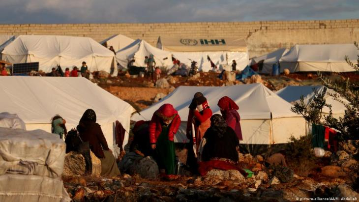 مخيم للنازحين في إدلب - سوريا. Foto: picture-alliance/AA