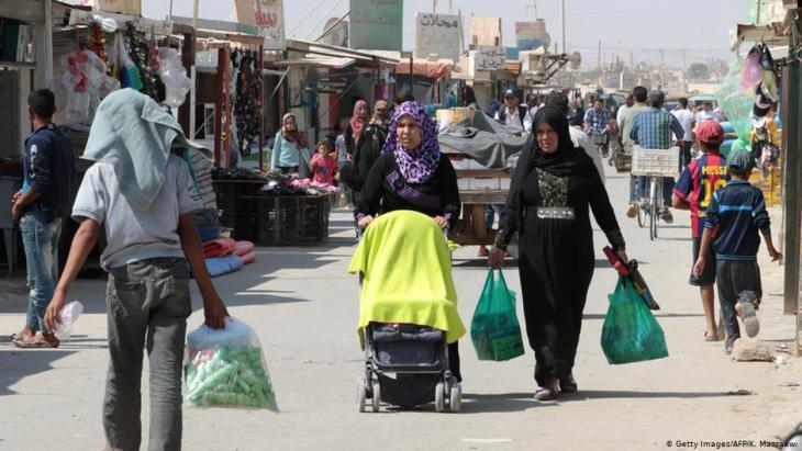 مخيم الزعرتري للاجئين في الأردن.