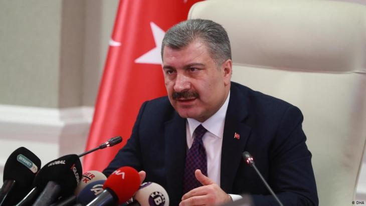 وزير الصحة التركي فخر الدين قوجة.