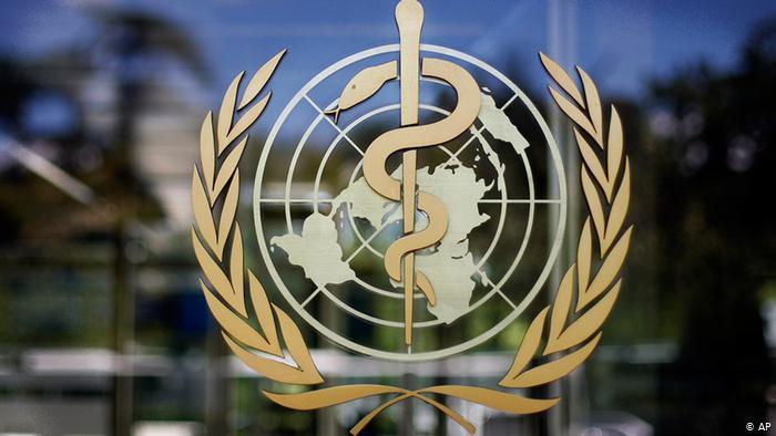 شعار منظمة الصحة العالمية. Foto: AP