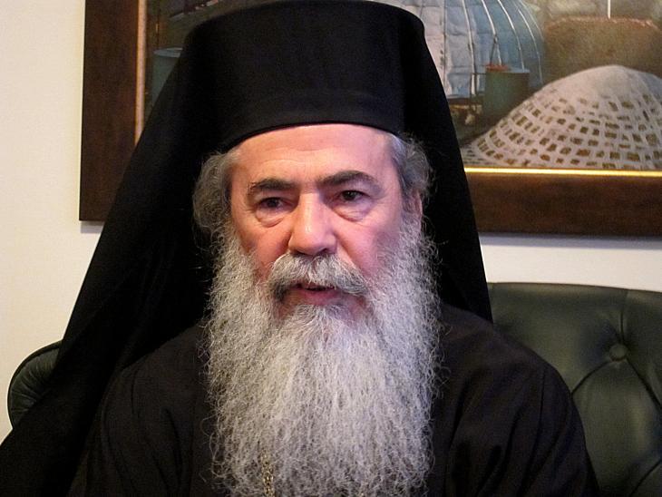 البطريرك الأرثوذكسي اليوناني ثيوفيلوس الثالث ومقره في القدس. Foto: Claudia Mende