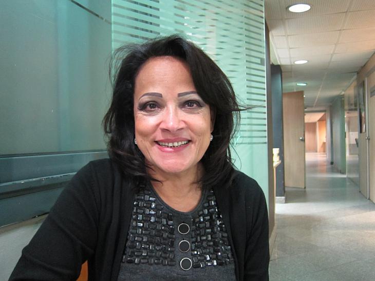 الصحفية المصرية البارزة كريمة كمال. Foto: Claudia Mende