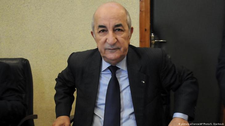 الرئيس الجزائري عبد المجيد تبون.  Foto: picture-alliance/AP
