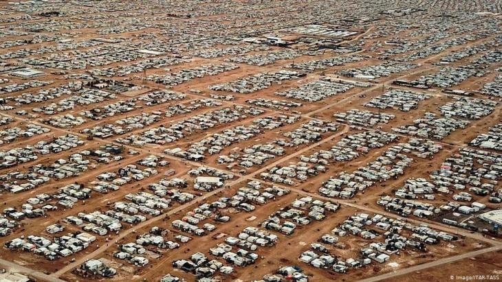 مخيم الزعتري في شمال الأردن ثاني أكبر مخيم للاجئين في العالم. Foto: Imago/Itar-Tass