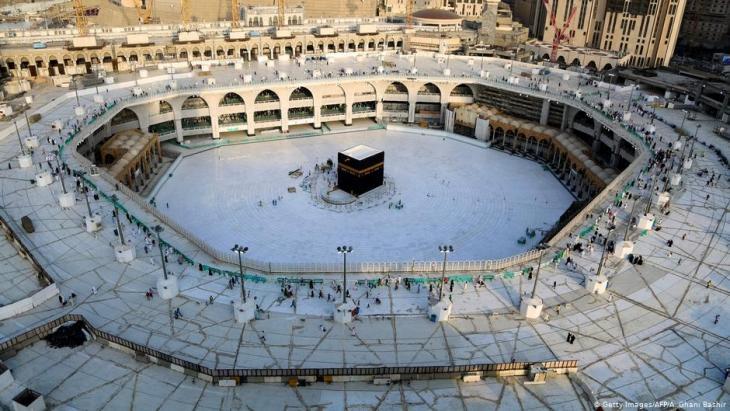 الكعبة المشرفة شبه حالية في مكة - السعودية.  Foto: Getty Images/AFP