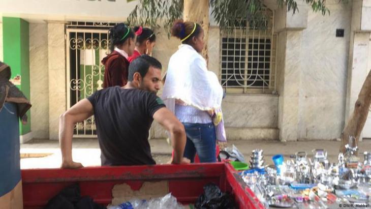 مصريات سوداوات البشرة في شوارع القاهرة. الصورة دويتشه فيله