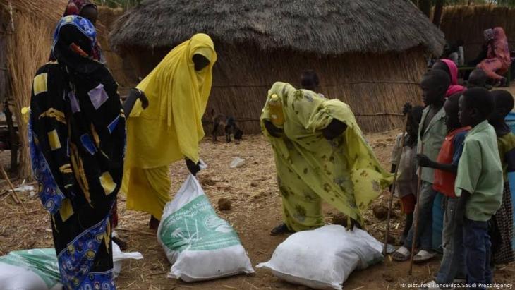 مساعدات للسودان أثناء أزمة كورونا.