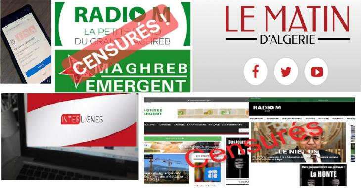 معاقبة المواقع الإخبارية التي لا تروق للحكومة في الجزائر.
