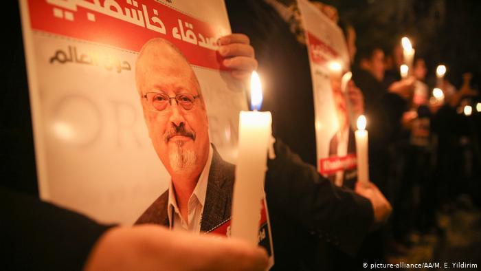 وقفة تضامنية مع الصحفي السعودي جمال خاشقجي. Foto: picture-alliance/AA