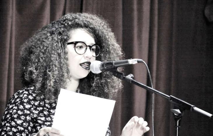 محرّرةُ مدونة صوتي، ريم مينيا.  (photo: Kaddour Bouzidi)