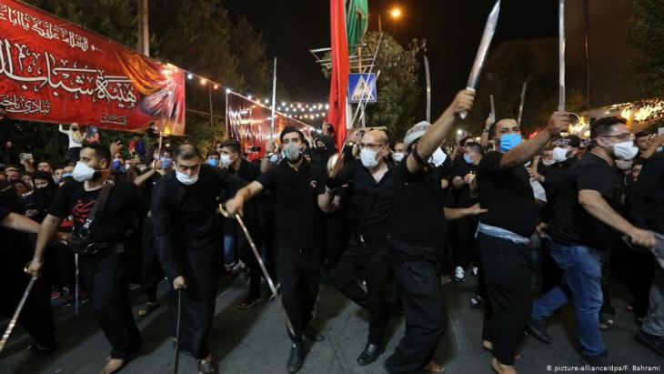 إحياء يوم عاشوراء في إيران في ظل قيود وباء كورونا. Foto: picture-alliance/dpa